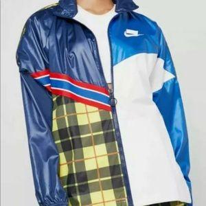 Nike Sportswear Plaid Nylon Jacket